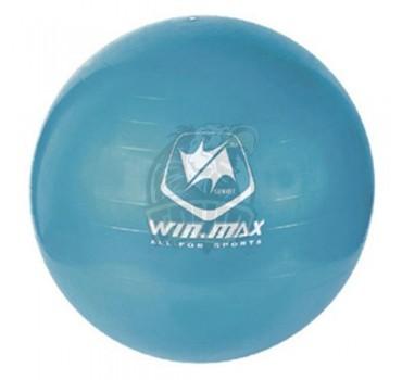 Мяч гимнастический (фитбол) Winmax 65 см с системой антивзрыв + насос (голубой)