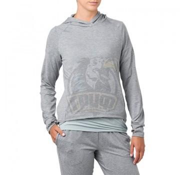 Толстовка спортивная женская Asics Sweat Po Hoodie (серый)