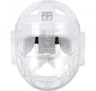 Шлем тхэквондо с защитной маской WT Mooto Extera (белый)