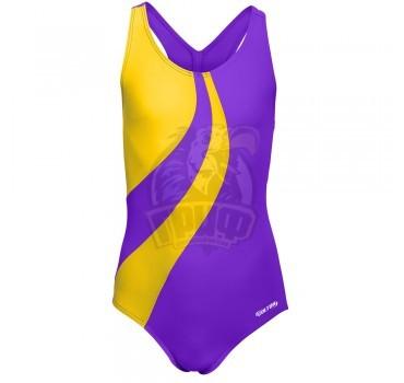 Купальник спортивный детский Colton Flow (фиолетовый/желтый)