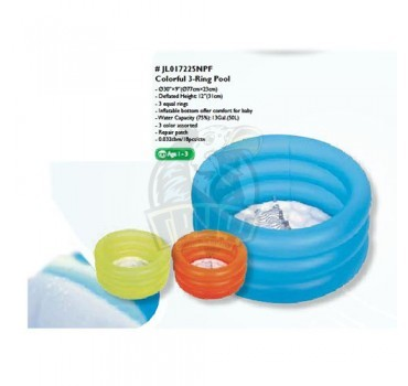 Бассейн для малышей надувной Jilong Colorful 3-Ring Pool (50 л)