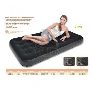 Матрас надувной полутораспальный + электронасос Jilong
