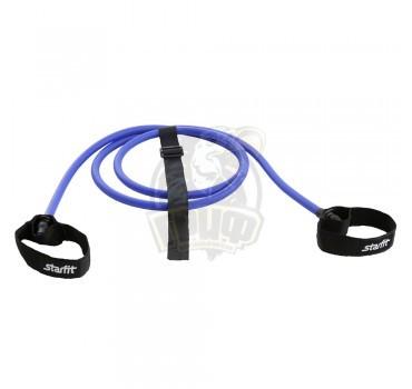 Эспандер силовой резиновая трубка с ручками Starfit 6 кг (синий)