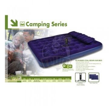 Матрас надувной полутораспальный + насос + 2 подушки Jilong