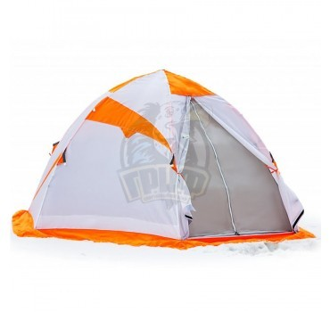Палатка зимняя Лотос 3 ЭКО (оранжевый/белый/серый)