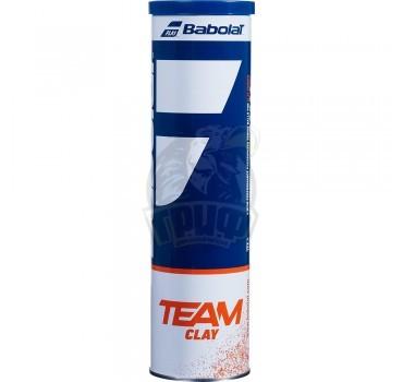 Мячи теннисные Babolat Team Clay (4 мяча в тубе)