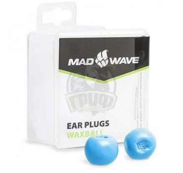 Беруши антиаллергенные Mad Wave Waxball (синий)