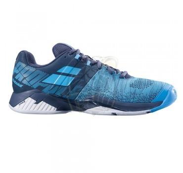 Кроссовки теннисные мужские Babolat Propulse Blast AC (синий/серый)