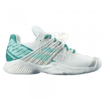 Кроссовки теннисные женские Babolat Propulse Fury AC (белый/зеленый)