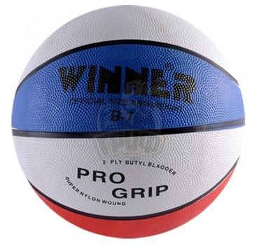 Мяч баскетбольный любительский Winner Tricolor №7