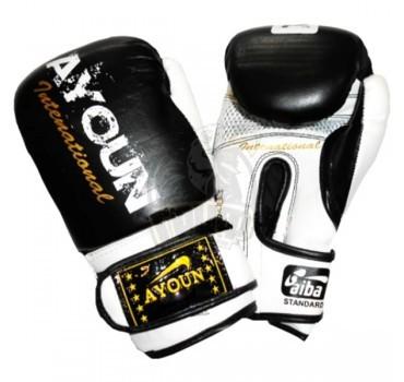 Перчатки боксерские Ayoun DX ПВХ (черный)