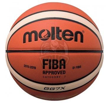 Мяч баскетбольный профессиональный Molten BGG7X-X FIBA Indoor/Outdoor №7
