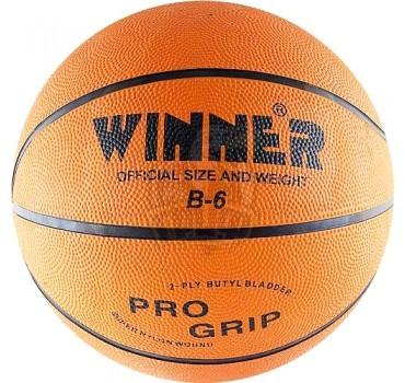 Мяч баскетбольный любительский Winner Orange Indoor/Outdoor №6