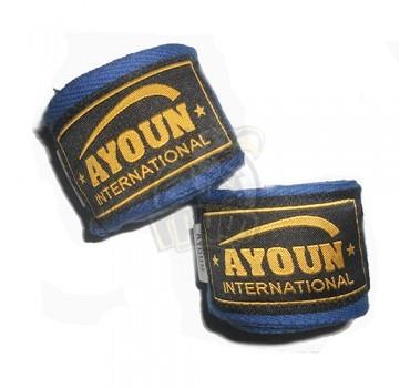 Бинт боксерский Ayoun 4,0 м (синий)