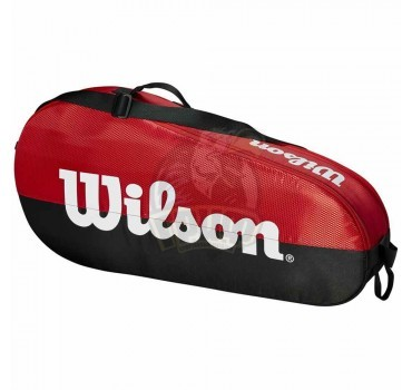 Чехол-сумка Wilson Team 1 Comp на 3 ракетки (красный/черный)