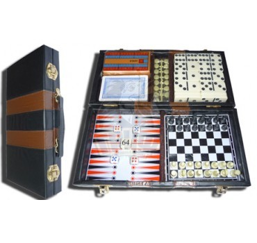 Набор игр 6 в 1 Fora (шашки, шахматы, нарды, домино, карты, зары)
