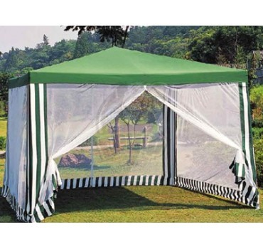 Тент-шатер на стойках с маскитной сеткой