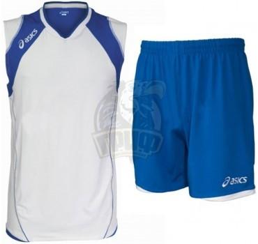 Форма волейбольная мужская Asics Set Volley Smu (белый/синий)