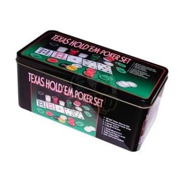 Набор для покера в коробке на 200 фишек