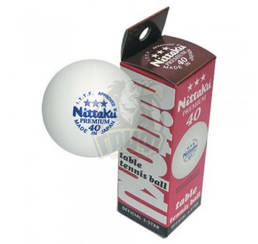 Мячи для настольного тенниса Nittaku Premium 3*