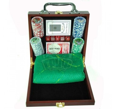 Набор для покера в чемодане сувенирный на 100 фишек