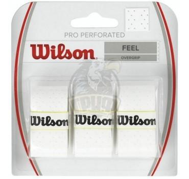 Обмотка для теннисной ракетки Wilson Pro Overgrip Perforated (белый)