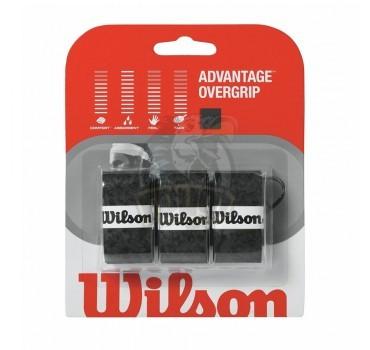 Обмотка для теннисной ракетки Wilson Advantage Overgrip (черный)