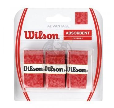 Обмотка для теннисной ракетки Wilson Advantage Overgrip (красный)