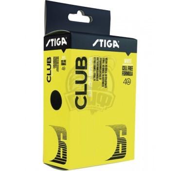 Мячи для настольного тенниса Stiga Club Select 40+ Polyball (белый)
