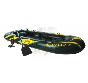 Лодка надувная четырехместная Intex SeaHawk 400 ПВХ