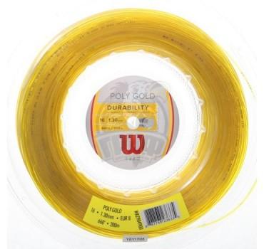 Струна теннисная Wilson Poly Gold 1.30/200 м (золотой)