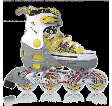 Роликовые коньки раздвижные Maxcity Lego Yellow