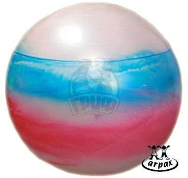 Мяч гимнастический (фитбол) Arpax 55 см с системой антивзрыв (радужный)