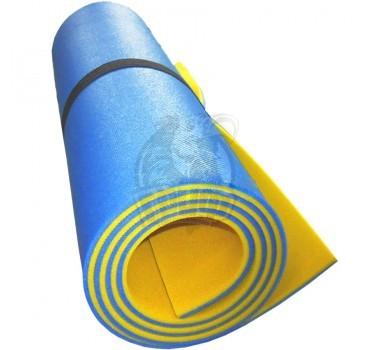 Коврик двухслойный Экофлекс 8 мм (голубой/желтый)