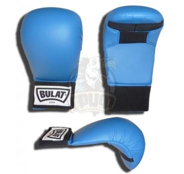 Перчатки (накладки) каратэ Bulat ПУ (синий)