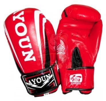 Перчатки боксерские Ayoun кожа (красный)