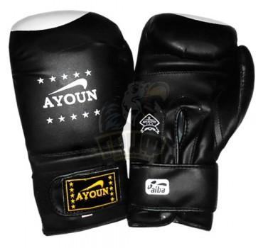 Перчатки для кикбоксинга Ayoun ПВХ (черный)