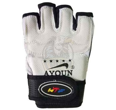 Перчатки таэквондо Ayoun WTF ПВХ (белый)