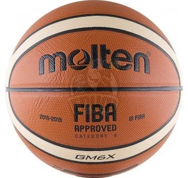 Мяч баскетбольный игровой Molten BGM6X FIBA Indoor/Outdoor №6