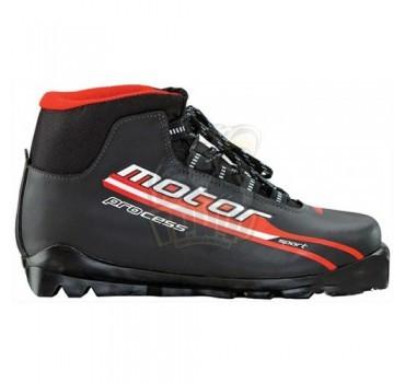 Ботинки лыжные Motor Process SNS (черный/красный)