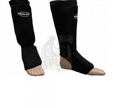 Защита голени и стопы для единоборств Vimpex Sport (черный)