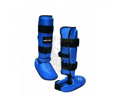 Защита голени и стопы для единоборств Vimpex Sport ПУ (синий)
