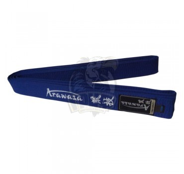 Пояс каратэ с вышивкой Arawaza Blue полиэстер/хлопок (синий)