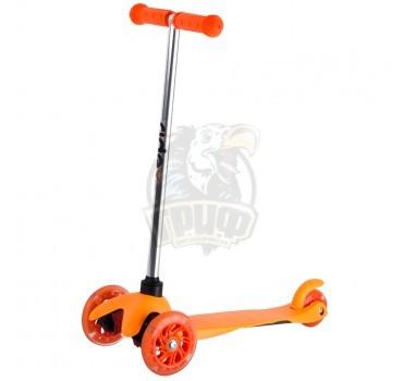 Самокат 3-х колесный Ridex 3D Kinder (оранжевый)