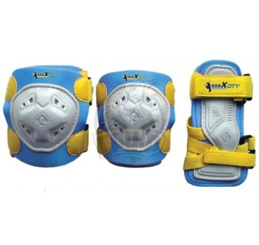 Набор защиты роллера Maxcity Game Blue (наколенники, налокотники, защита кисти)