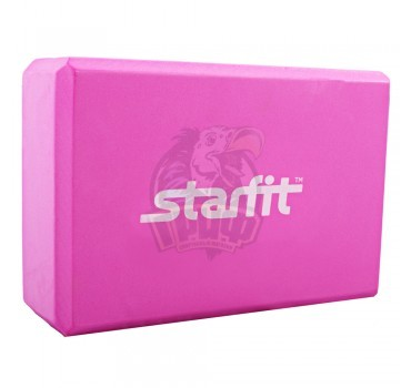 Блок для йоги Starfit (розовый)
