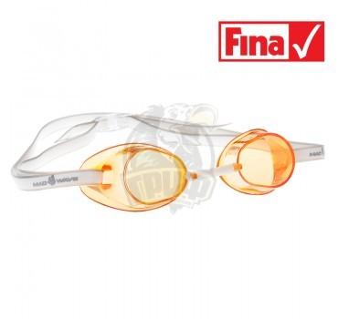Очки для плавания стартовые Mad Wave Racer SW (оранжевый)