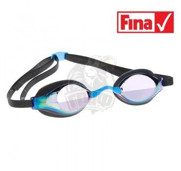 Очки для плавания стартовые Mad Wave Record Breaker Rainbow (черный)