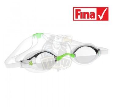 Очки для плавания стартовые Mad Wave Record Breaker Mirror (зеленый)