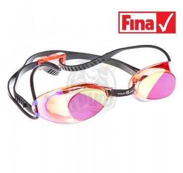 Очки для плавания стартовые Mad Wave Liquid Racing Mirror (красный)